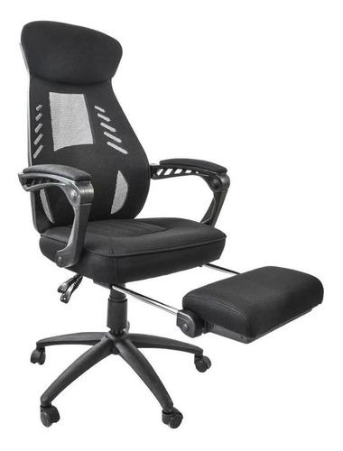Imagen 1 de 6 de Silla de escritorio Top Living Link  negra con tapizado de mesh