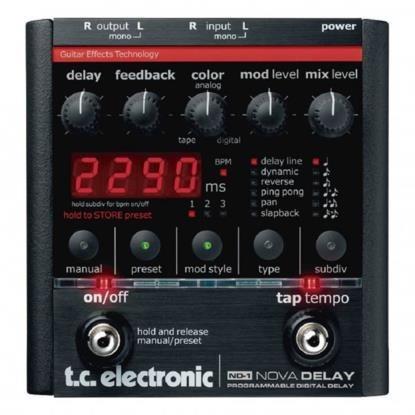 Pedal Nova Delay Tc Eletronic Com Fonte