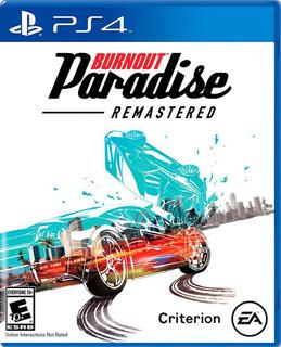 Burnout Paradise Remastered Ps4 Nuevo Fisico Español Od.st