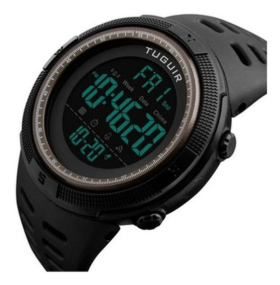 Relógio Masculino Tuguir Digital Tg1251 Preto Original