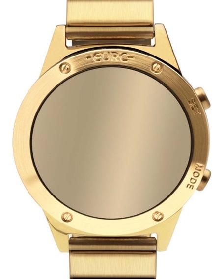 Relógio Euro Digital Led Dourado Feminino Eujhs31bab/4d Nf