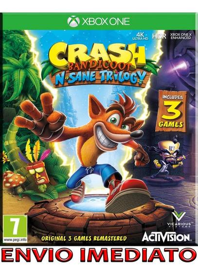 Crash Bandicoot N Sane Trilogy Xbox One Midia Digital !!