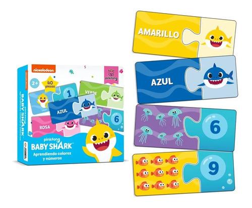 Imagen 1 de 3 de Baby Shark Puzzle 2 Pzas Aprendiendo Numeros Y Colores