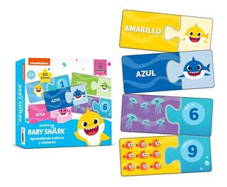 Baby Shark Puzzle 2 Pzas Aprendiendo Numeros Y Colores Full
