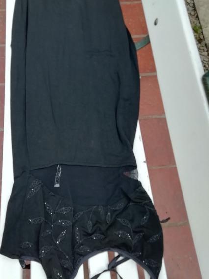 Vestido De Fiesta Negro De Jersey