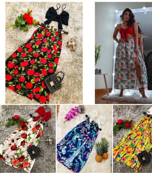 Falda Y Blusa Conjunto Mujer Floral