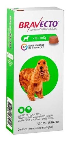 Bravecto Antipulgas Bulldog Francês Para Cães 10 A 20 Kg - M