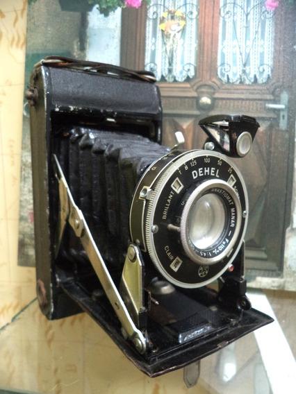 Maquina Fotografica De Fole Dehel Francesa Antiga