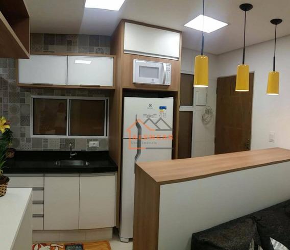 Studio Todo Mobiliado E Decorado Com 1 Dormitório À Venda, 35 M² Por R$ 165.000,00 - Vila Campanela - São Paulo/sp - St0002