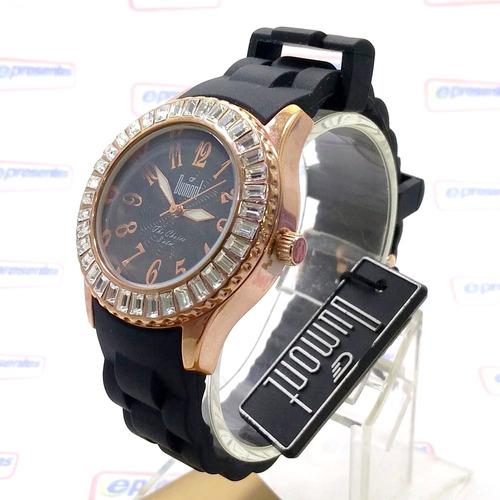 Sw49011p Relógio Feminino Dumont Pulseira Silicone Cx Rose