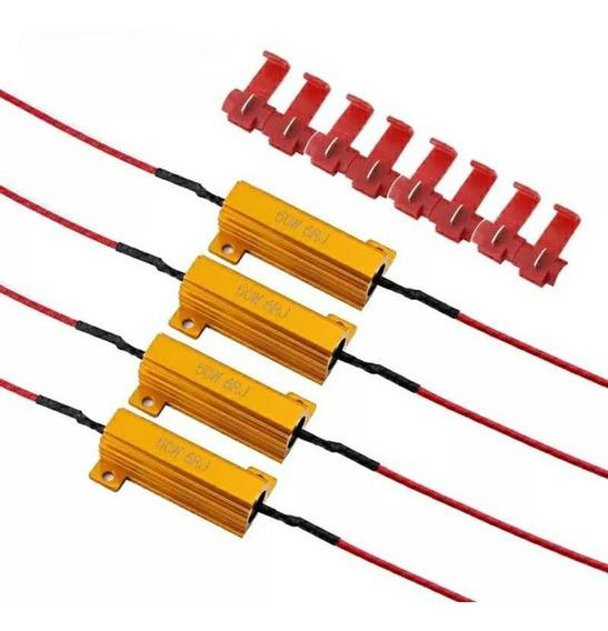 Kit C/ 4 Resistor Canceller Lampada Led Canbus 50w 6 Ohms