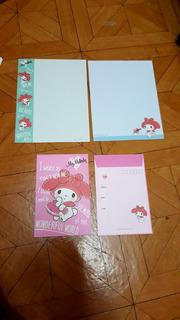 Set Papel Carta Y Sobre Sanrio My Melody 1 Kiowoland