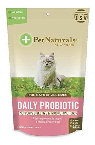 Imagen 1 de 3 de Probiótico Para Gatos Suplemento Digestivo 30 Masticables