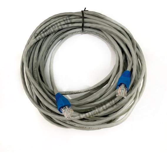 Cable Utp Cat5e Marca Wireplus 25 Metros Para Internet Redes