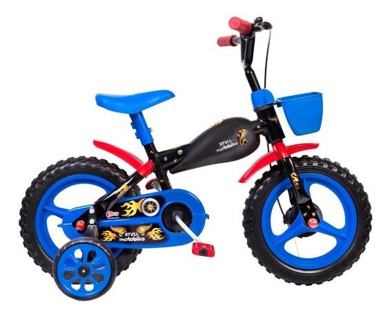 Bicicleta Bike Infantil Criança Aro 12 Moto Bike