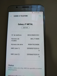 Telefone Celular Samsung J7 Metal - Pouco Usado