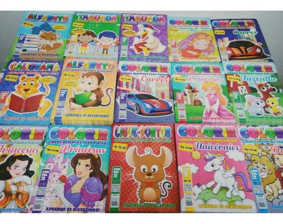Kit 60 Livrinhos De Colorir E Atividades,ótimo Preço.