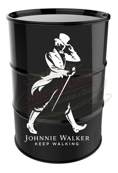 Adesivo Decorativo Johnnie Walker Tambor Tonel Barril 200l