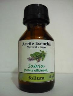 Aceite Esencial De Salvia Officinalis Natural Y Puro 15 Ml