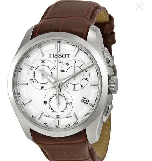 Reloj Tissot Couturier Cronofrago De Cuarzo, Zafiro