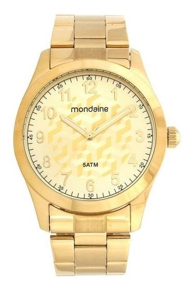 Relógio Feminino Mondaine 78715lpmvda1 Aço Dourado
