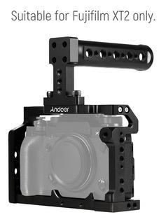 Andoer Aluminum Aleacin Cmara Video Jaula Top Handle Kit