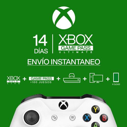 Codigo Xbox Live + Game Pass Ultimate 14 Dias Envio 24h
