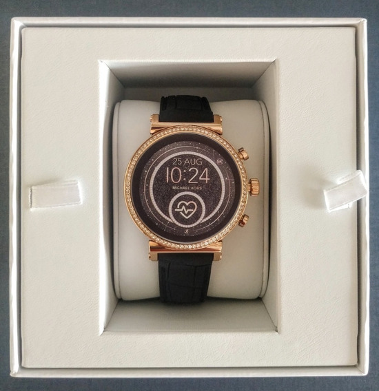 Relógio Michael Kors Mkt5069 Rose Gold Smartwatch Original