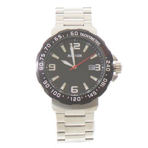 Relógio Magnum Masculino Aço Prata Social Wr 100 M Ma35020c