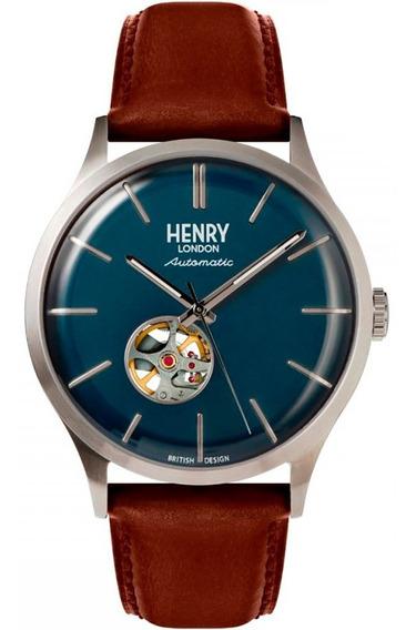 Henry London Heritage Automático Acero & Azul 42mm Diego Vez