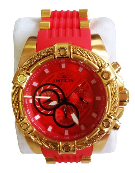 Relógio Invicta Bolt 25525 Vermelho C/dourado Original C/ Nf