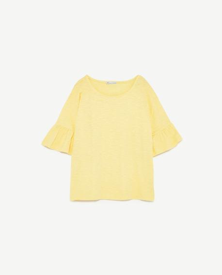 Remera Zara Amarilla Nueva Con Etiquetas Importada De Usa