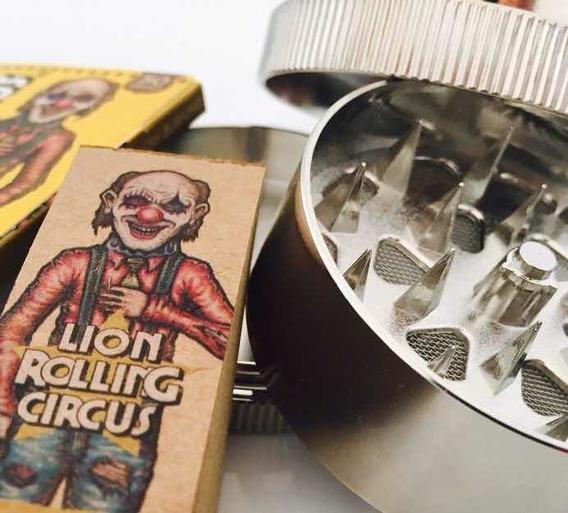 Picador Metal De Tabaco 3 Partes Lion Celulosa Filtros Regal