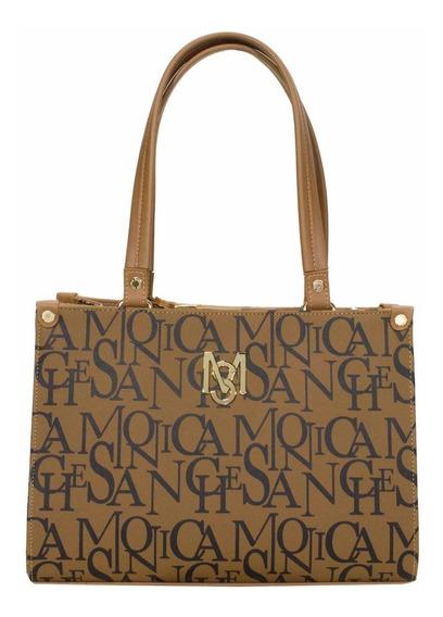 Bolsa Monica Sanches 3256 Safiano Ms Marrom