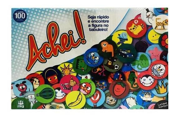 Jogo De Tabuleiro Educativo Achei! Nig Brinquedos 0579
