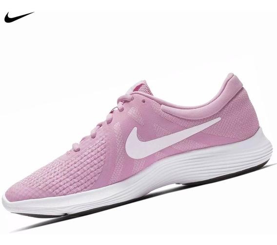 Zapatilla Nike Revolution 4 Gs Para Dama - Rosa