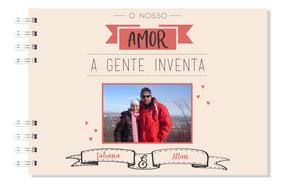 Caderno De Recordações Personalizado - Namorados