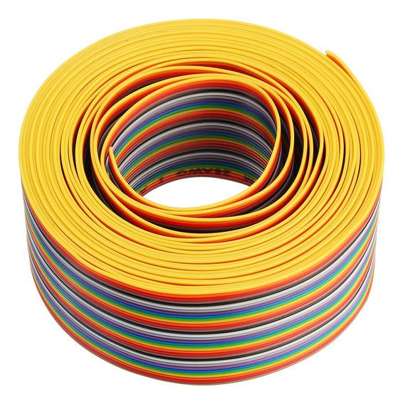 5 M 1.27mm Pitch Ribbon Cabo 34p Flat Color Arco-íris Fio Ca