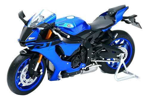 Azul 1/18 Escala Aleación Moto Bicicleta Modelo Yamaha R1
