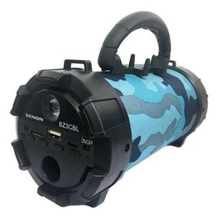 Parlante Portátil Bluetooth Bazooka Sd Usb Camuflado Senon