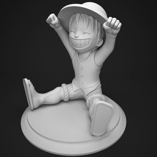 Luffy V3 - One Piece - Stl Para Impresion 3d
