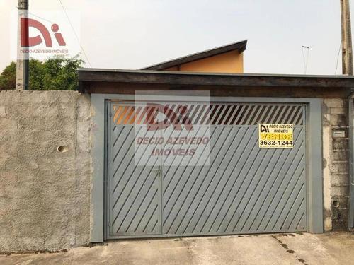 Casa Com 2 Dormitórios À Venda Por R$ 160.000,00 - Jardim Santa Tereza - Taubaté/sp - Ca0053