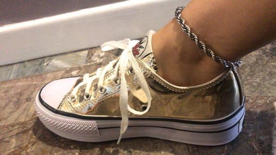 Zapatillas Tipo Converse Urbanas Mujer Plataforma Fiesta 15