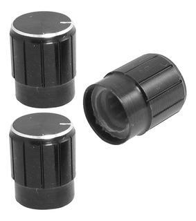 Perilla Potenciómetro 13*17mm Negro Aleación Aluminio