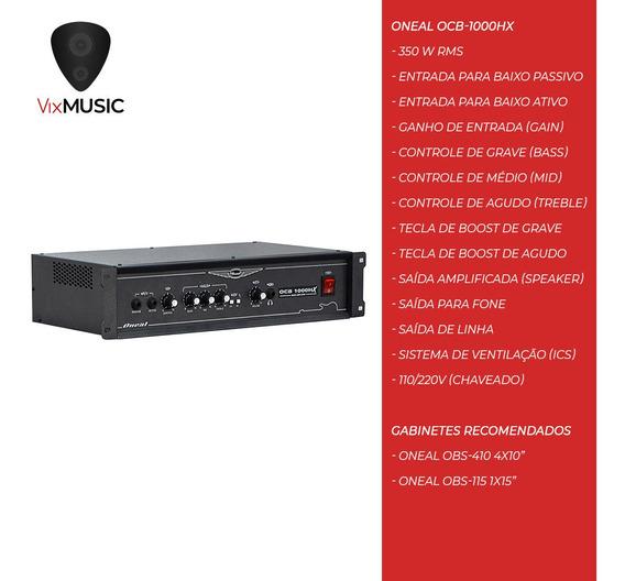 Cabeçote Amplificador Contra Baixo Oneal Ocb1000h 350w
