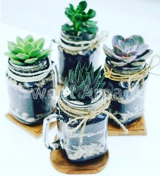 24 Mini Caneca Vidro Mason Jar Até 200ml Lembrancinha
