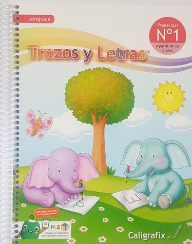 Imagen 1 de 2 de Trazos Y Letras N°1 Preescolar Lenguaje Infantil Cx (4 Años)
