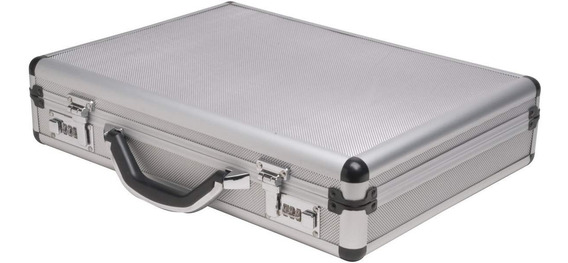 Portafolio Maletín Aluminio Espacioso Elegante Trabajo