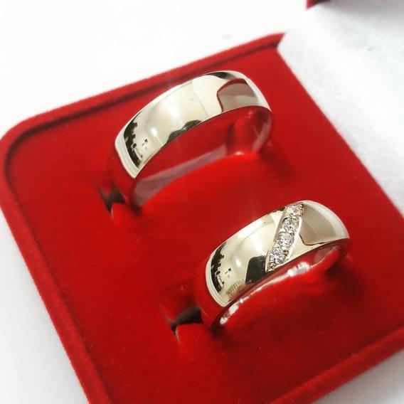 Par Alianças 7mm Casamento Noivado Moedas Antigas
