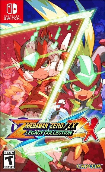 Mídiafísica Mega Man Megaman Zerozx Legacy Collection Switch